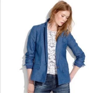 Madewell Chambray Linen Blazer size 2
